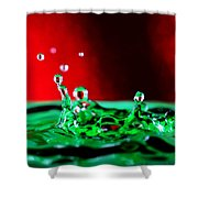 Water Drop Splashing Shower Curtain
