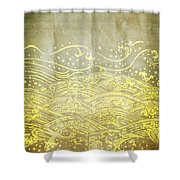 Water Pattern On Old Paper Shower Curtain