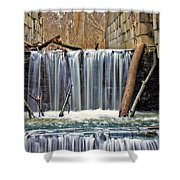 Waterfalls At Old Erie Canal Locks Shower Curtain
