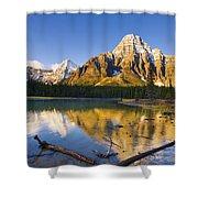 Waterfowl Lakes And Mount Chephren Shower Curtain