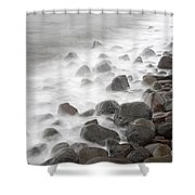 Waves Hitting The Shore Shower Curtain