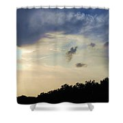 Weather Signs At Sunset Shower Curtain