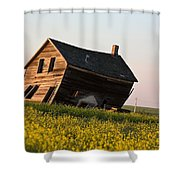 Weathered Old Farm House In Scenic Saskatchewan Shower Curtain