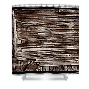 Weathered Wall In Bodie Ghost Town Shower Curtain