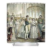 Wedding Of Queen Victoria Shower Curtain