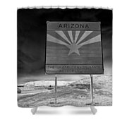 Welcome Sign Shower Curtain by David Lee Thompson