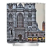 Westminster Abbey And  Victoria Tower Shower Curtain