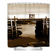 Wharf At Low Tide Shower Curtain