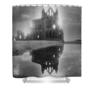 Whitby Abbey Shower Curtain by Simon Marsden