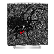 Wicked Widow - Selective Color Shower Curtain