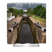 Wide Water Lock Shower Curtain