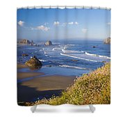Wildflowers And Rock Formations Along Shower Curtain