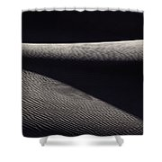 Wind-rippled Sand Dunes In Death Valley Shower Curtain