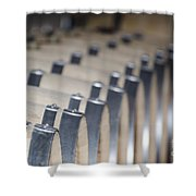 Wine Barrels In Line Shower Curtain