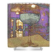 Wine Glass Shower Curtain