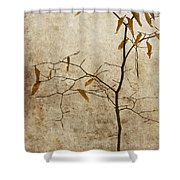 Winter Leaves Shower Curtain