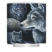 Wolf Trio Shower Curtain