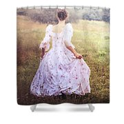 Woman In A Meadow Shower Curtain