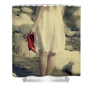 Woman In A River Shower Curtain