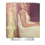 Woman In Alley Shower Curtain