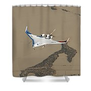 X-48b Blended Wing Body Shower Curtain