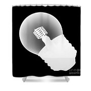 X-ray Of Lightbulb Shower Curtain