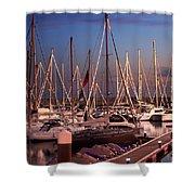 Yacht Marina Shower Curtain