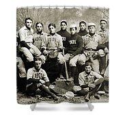 Yale Baseball Team, 1901 Shower Curtain