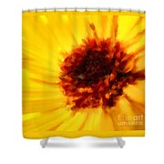 Yellow Floral 01 Shower Curtain