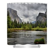 Yosemite's Valley View  Shower Curtain