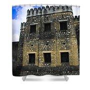 Zanzibar Old Fort Shower Curtain by Darcy Michaelchuk