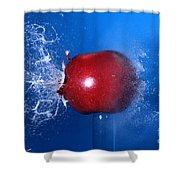Bullet Hitting An Apple Shower Curtain