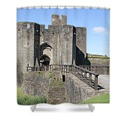 Caerphilly Castle Shower Curtain