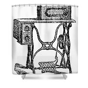 Sewing Machine Shower Curtain