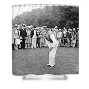 Silent Film Still: Golf Shower Curtain