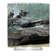 The Leopard 1a5 Main Battle Tank Shower Curtain