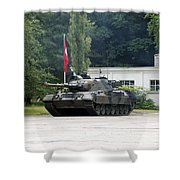 The Leopard 1a5 Of The Belgian Army Shower Curtain