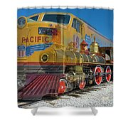 100 Years Of Union Pacific Railroading Shower Curtain
