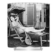 Silent Film Still: Woman Shower Curtain by Granger