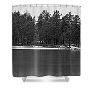 Haukkajarvi First Snow Shower Curtain