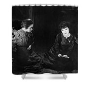 Silent Film Still: Women Shower Curtain