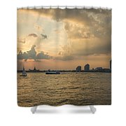 View From Battery Park City Shower Curtain