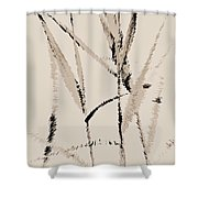 Water Reed Digital Art Shower Curtain