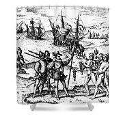 Christopher Columbus Shower Curtain by Granger