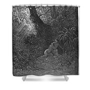 Milton: Paradise Lost Shower Curtain