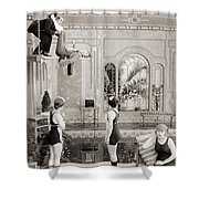 Silent Still: Bathing Shower Curtain