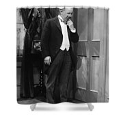 Silent Still: Single Man Shower Curtain