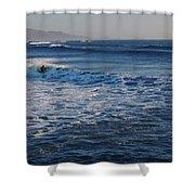 Surfers Make The Ocean Better Series Shower Curtain