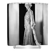 Silent Film Still: Woman Shower Curtain