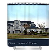 12000 Sf House Shower Curtain by Renee Trenholm